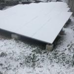 降雪地域の太陽光発電設備