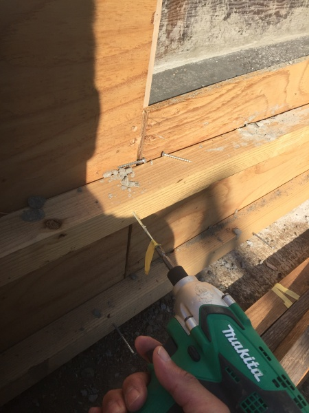 コンクリート型枠の作り方